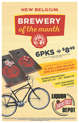 New Belgium Brewery of the Month Poster